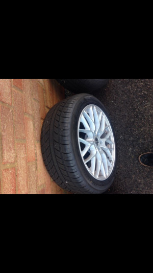 """4 17"""" VW brand new alloy wheels with brand new tyres"""