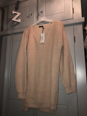 Boohoo oversized knitted jumper