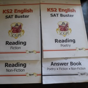 SATs Reading Workbooks with answer booklet