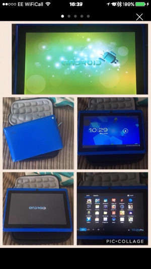 "Blue 7"" Tablet and protective case"