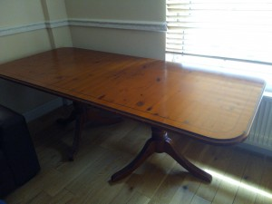 Solid wood high quality impressive dining table extendable, RRP £1600