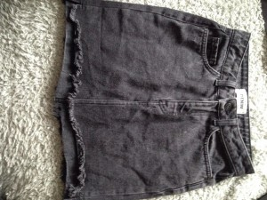 New look WASHED BLACK DENIM SKIRT. UK 6
