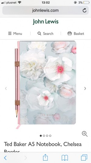 BRAND NEW Ted Baker Notebook With Pencil Gift Set a5 Floral Patterned Roses
