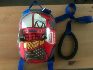 Fire Engine Backpack and Reins