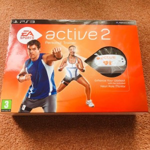 PS3 EA Sports Active 2 Personal Trainer Box Set Game, Belts & Dongle N