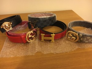Mens Designer Belts - Gucci Louis Vuitton Hermes Versace