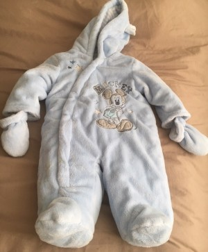 Brand new Mickey Mouse snowsuit size 0-3 months