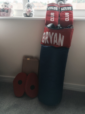 punch bag with accesseries