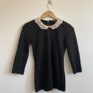 Black forever21 3/4 sleeve top
