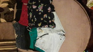 bundle of ladies shorts and skirts