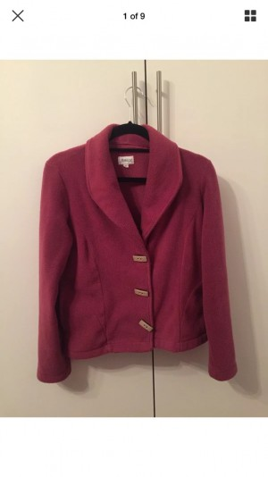 Mauve Amica Fleece Jacket with Wooden Toogles UK12