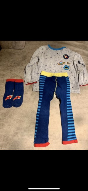 Full blade and rose outfit outer space design leggings, top, socks siz