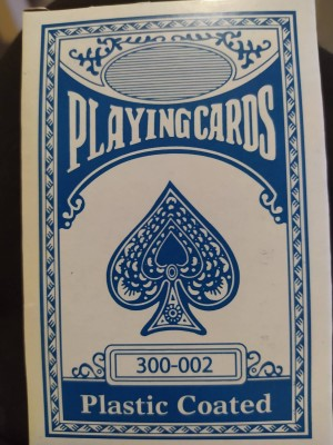 plastic coàted playing cards