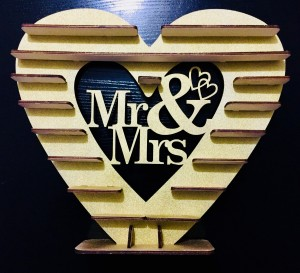 Mrs And Mrs Glitter Gold Spray Painted Ferrero Rocher Stand