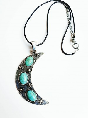 moon crescent charm necklace