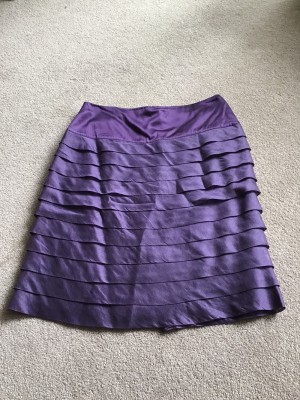 Purple Reiss Pleated Skirt size 8