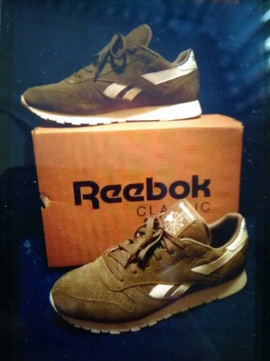 Reebok classic green trainers UK 7