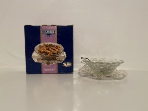 Vintage Silver Plated And Glass Party Dish Tableware Gifts Kitchen