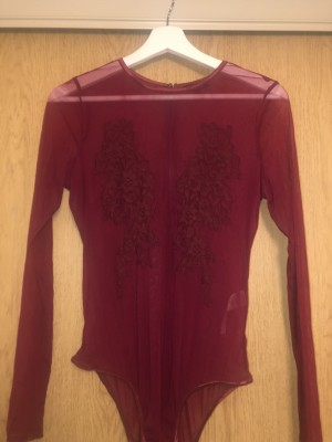 Topshop size 12 red bodysuit (worn once)