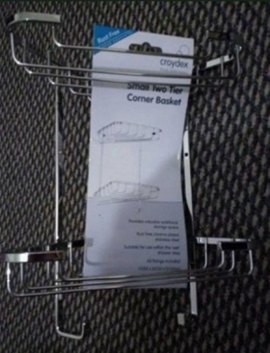 Croydex - small two tier corner basket