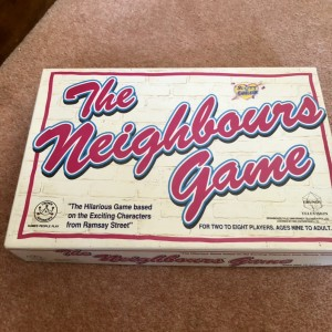 The Neighbours Retro Vintage Family Board Game 1988 Kylie & Jason Rams