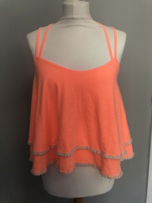 Woman's orange summer top size 10