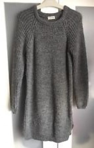 River island grey jumper dress size 14