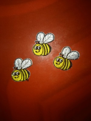 bumble bees sew on or iron on patch