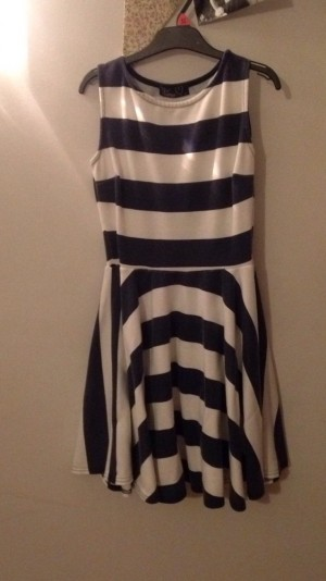 Stripy Skater Girl Dress