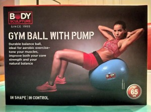 NEW UNOPENED GYM BALL WITH PUMP 65 cm by Body Sculpture