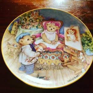 Franklin Mint Teddy Bear Pretty As A Picture Plate By Patricia Brookes