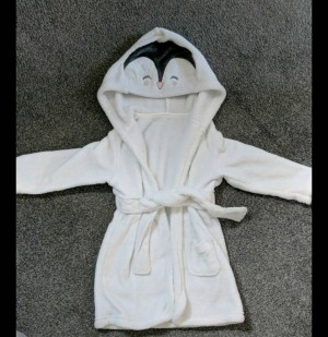 Penguin dressing gown 12-18m  As new
