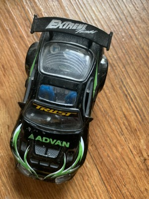 Extreme toy car black  and green