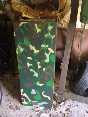 Hand-painted Camouflage Wardrobe