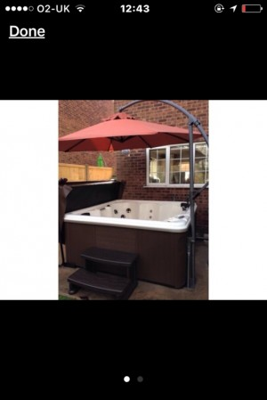 hot tub umbrella or garden umbrella