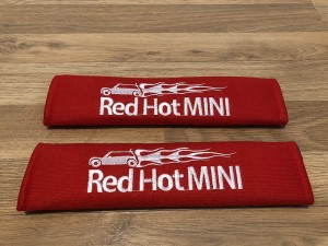 2X Seat Belt Pads Cotton Red Gifts Red Hot Mini Cooper One Hatch S D C
