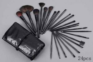 24 piece mac makeup brush set in leather case,genuine and extra bits of unused branded makeup,prada perfume,sky box plus ,