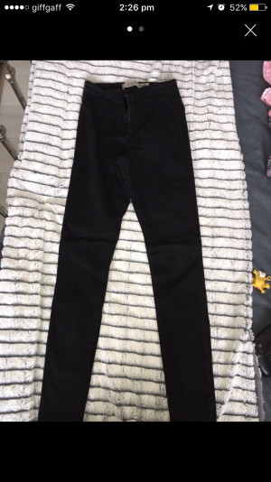 Size 8 skinny high waisted jeans