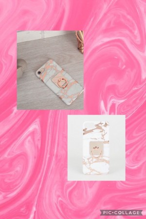 Rose Gold Marble Effect case