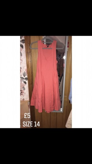 Ladies pink swing dress
