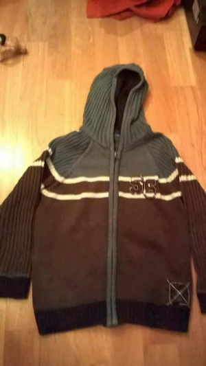 knitted zip up hoody