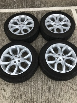 "Set of 19"" genuine Land Rover alloy wheels and tyres . Freelander 2"