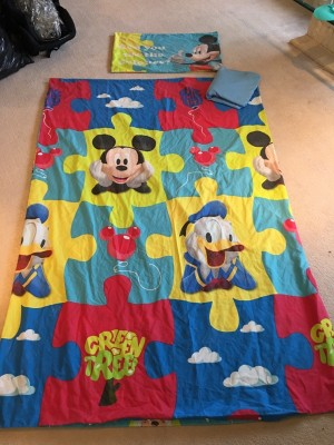 mickey mouse single bedding set