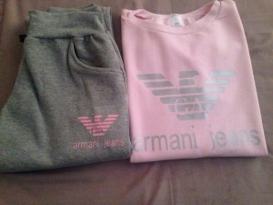Armani jeans tracksuits new with out tag size small medium large