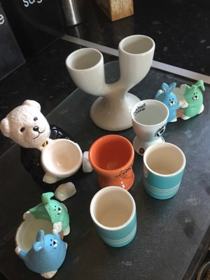 Variety of egg cups