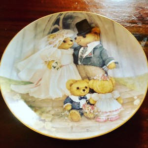 Franklin Mint Teddy Bear Just Married Plate By Patricia Brookes Limite