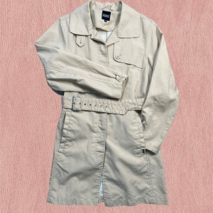 Trench coat in beige colour from brand Aigle Mac coat