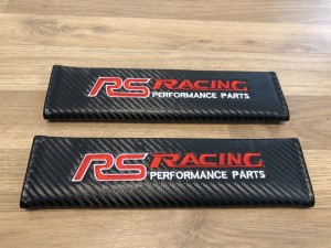2X Seat Belt Pads Carbon Gifts Ford RS Focus Red Edition Racing 2.3 TD