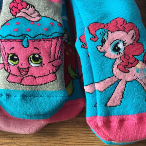 Girls socks my little pony and shopkins