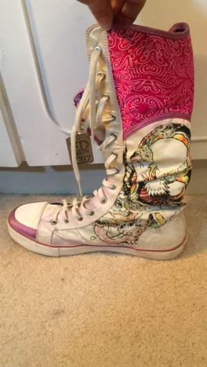 Ed hardy converse trainers, TALL, Size 37. Special edition high rise